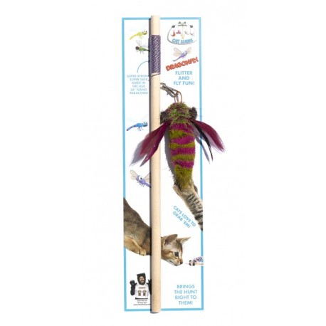 GO CAT Lures Dragonfly w/Wooden Wand