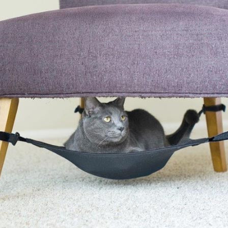CAT CRIB Under-Chair Hanging Hammock, TAN