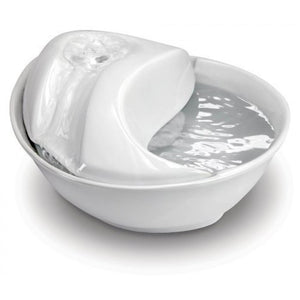 PIONEER PET Raindrop White Ceramic Fountain, 1.77L capacity