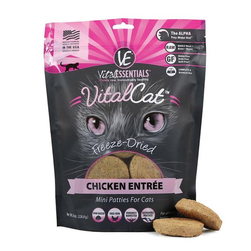 VITAL ESSENTIALS Freeze-Dried Chicken Mini Patties, 8oz