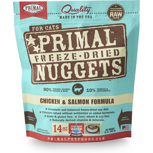 PRIMAL Freeze-Dried Chicken & Salmon Formula, 14oz