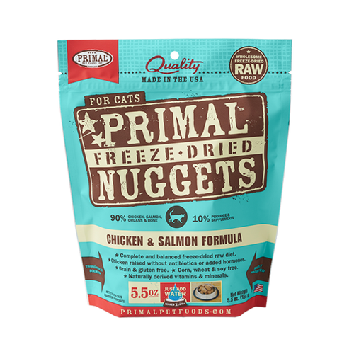 PRIMAL Freeze-Dried Chicken & Salmon Formula, 5.5oz