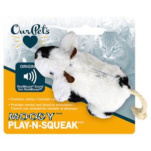 "OUR PET'S Play N Squeak Plush ""Moody Cow"" Catnip Toy"