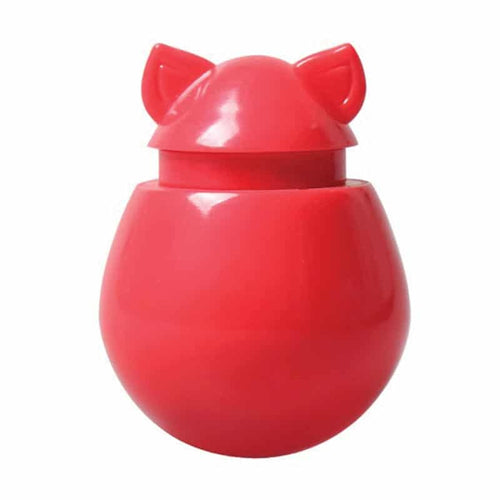 DOYENWORLD Refillable Catnip & Treat Dispenser, Watermelon Red