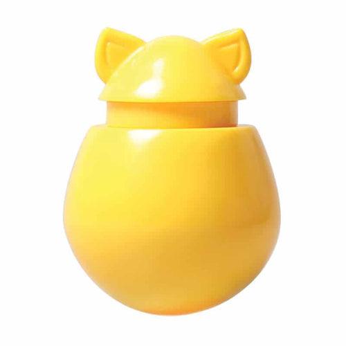 DOYENWORLD Refillable Catnip & Treat Dispenser, Banana Yellow
