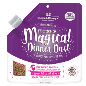 STELLA & CHEWY'S Marie's Magical Dinner Dust Freeze-Dried Raw Salmon & Chicken Meal Topper, 198g