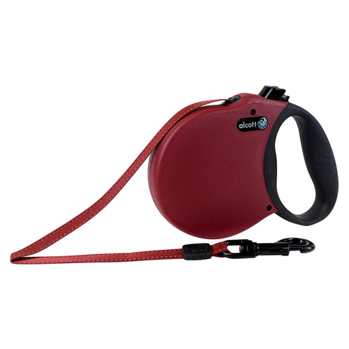 ALCOTT Adventure Retractable Leash, Red