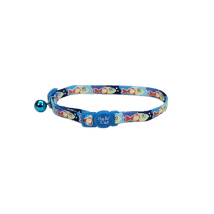"COASTAL Safecat Fashion Breakaway Collar 12"", Fish Blue"