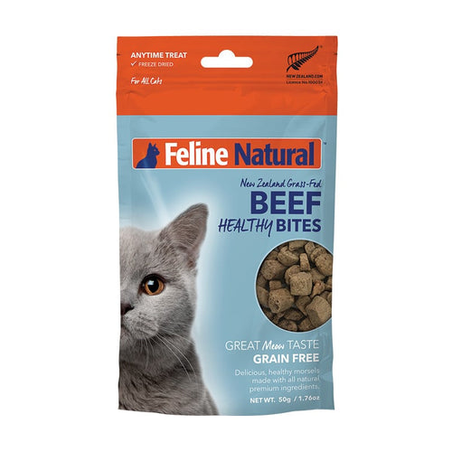 FELINE NATURAL Healthy Bites Freeze-Dried Beef, 50g