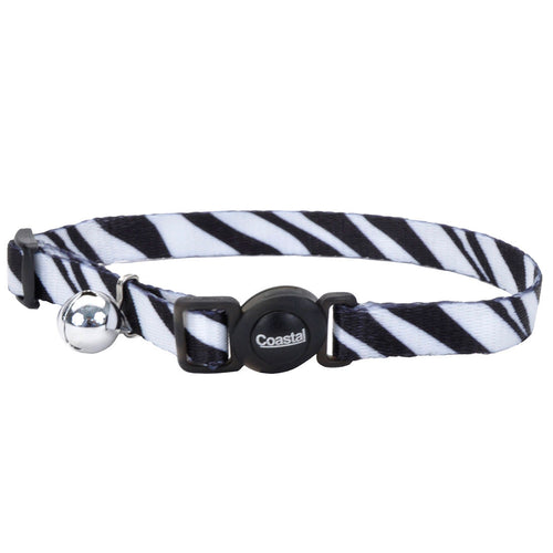 COASTAL SafeCat Fashion Adjustable Breakaway Collar, Zebra