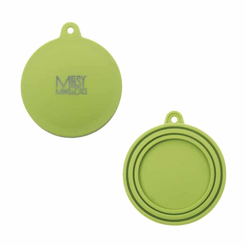MESSY CATS Silicone Can Lid, green