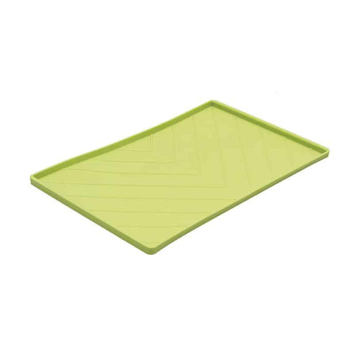 MESSY CATS Silicone Feeding Mat with Metal Rods, green
