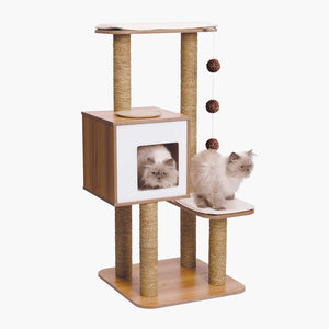 CATIT Vesper High Base Oak Cat Tree