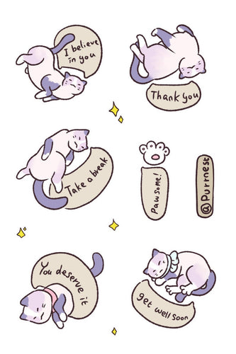 PURRNEST Sticker Sheet