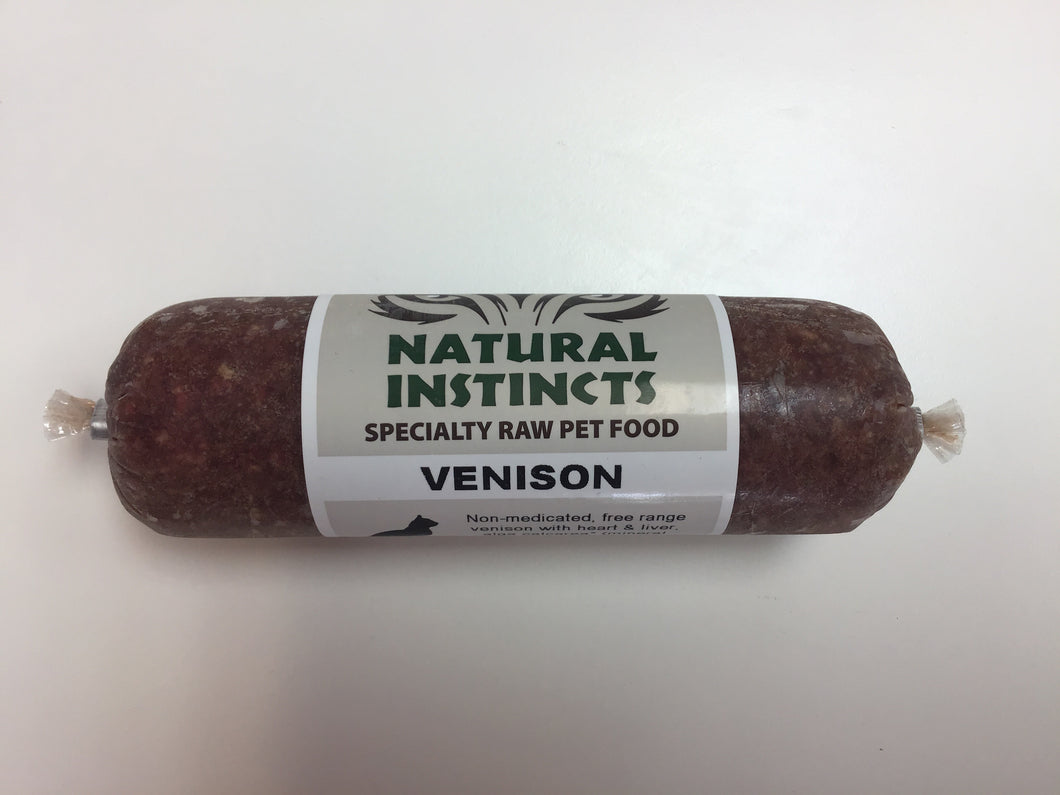 NATURAL INSTINCTS Raw Venison Non-Medicated, 250g