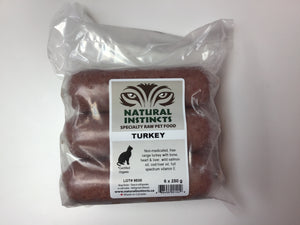 NATURAL INSTINCTS Bulk Raw Turkey Non-Medicated, 6 x 250g