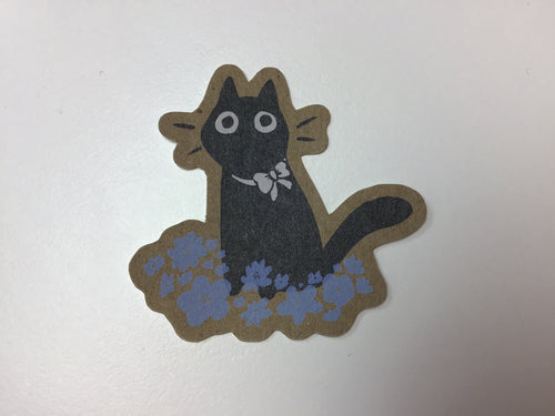 MARLADRAW Cat in  Flowers Sticker