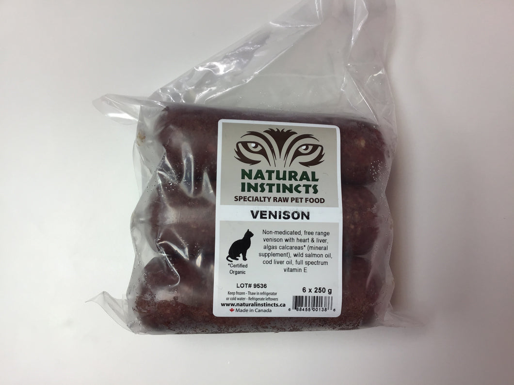 NATURAL INSTINCTS Bulk Raw Venison Non-Medicated, 6 x 250g