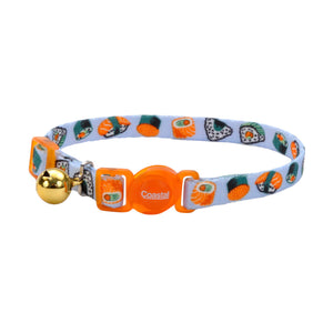 COASTAL Safe Cat Adjustable Breakaway Collar, Sushi