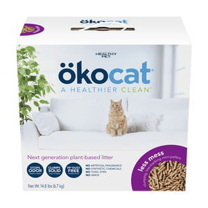 "OKOCAT Less Mess Mini-Pellet Litter (FORMERLY ""Clumping Wood Litter Long Hair""), 6.7kg"