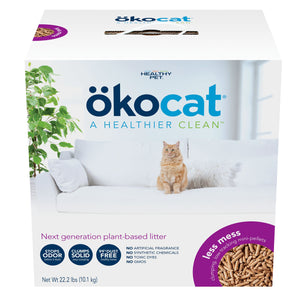 OKOCAT Less Mess Mini-Pellet Litter (FORMERLY Clumping Wood Litter Long Hair), 10.9kg