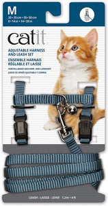 CATIT Adjustable Harness & Leash Set Blue, Medium