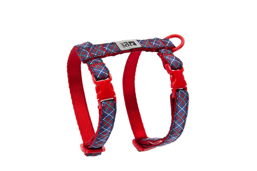 RC PETS Kitty Harness Navy Tartan, medium