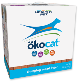 OKOCAT Clumping Wood Litter, 9kg