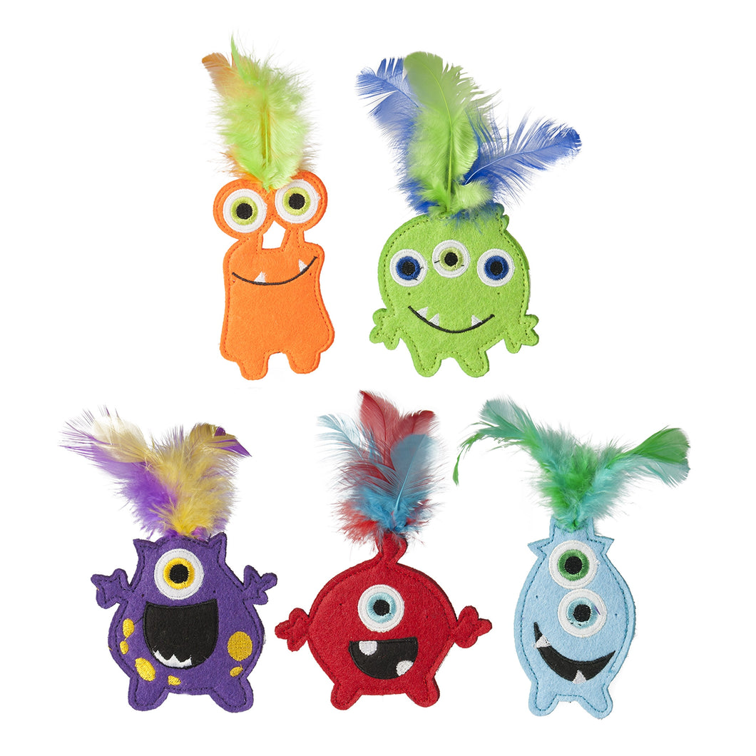 MULTIPET Monsters w/Catnip, assorted monsters