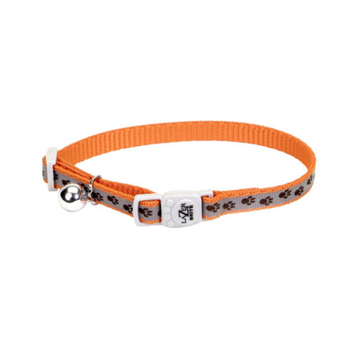 COASTAL LazerBrite Reflective Breakaway Collar, orange paws