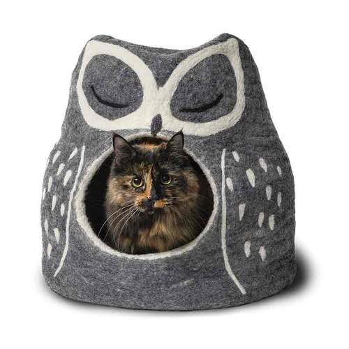 KARMA CAT Owl Wool Cat Cave