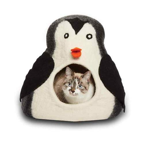 KARMA CAT Penguin Wool Cat Cave