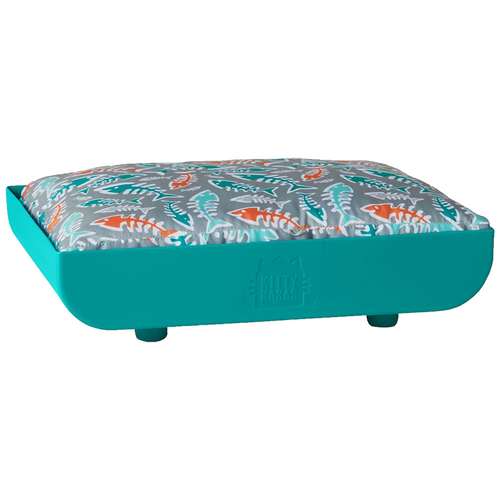 KITTY KASA Penthaus Bed, Teal