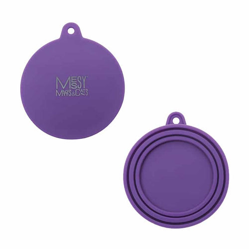 MESSY CATS Silicone Can Lid, purple