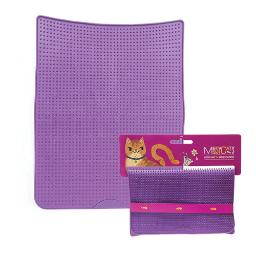 MESSY CATS Litter Mat, purple