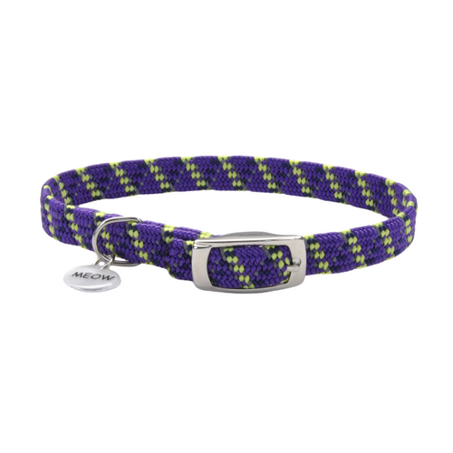 COASTAL ElastaCat Reflective Safety Stretch Collar, purple