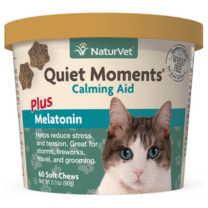 NATURVET Quiet Moments w/Melatonin Calming Aid, 60 soft chews