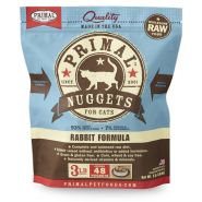 Primal Frozen Raw Rabbit Nuggets, 3lbs