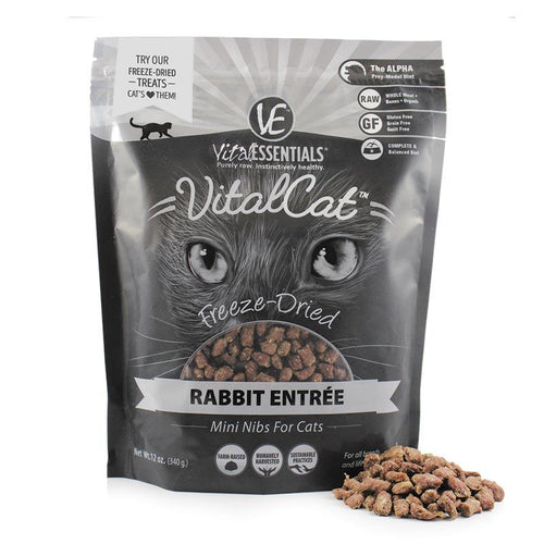 VITAL ESSENTIALS Freeze-Dried Rabbit Mini Nibs, 12oz
