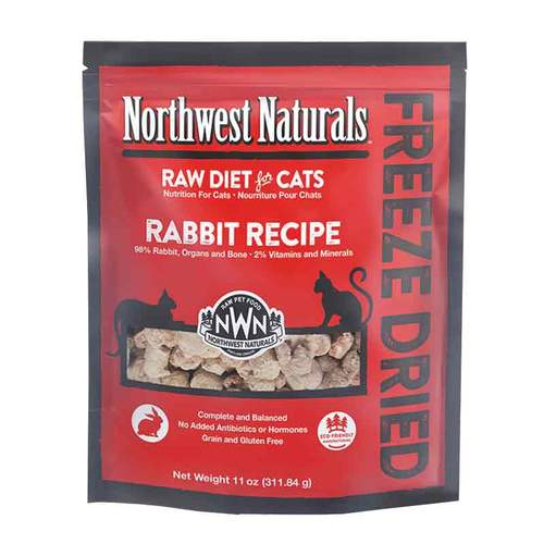 NORTHWEST NATURALS Freeze Dried Rabbit Recipe, 4oz