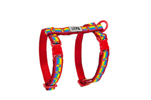 RC PETS Kitty Harness, Medium Rainbow Paws