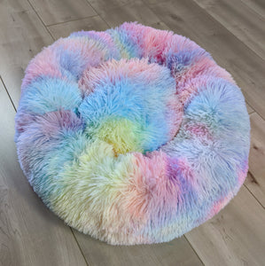 SNUG Fluffy Donut Bed, Rainbow
