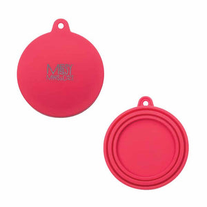 MESSY CATS Silicone Can Lid, red