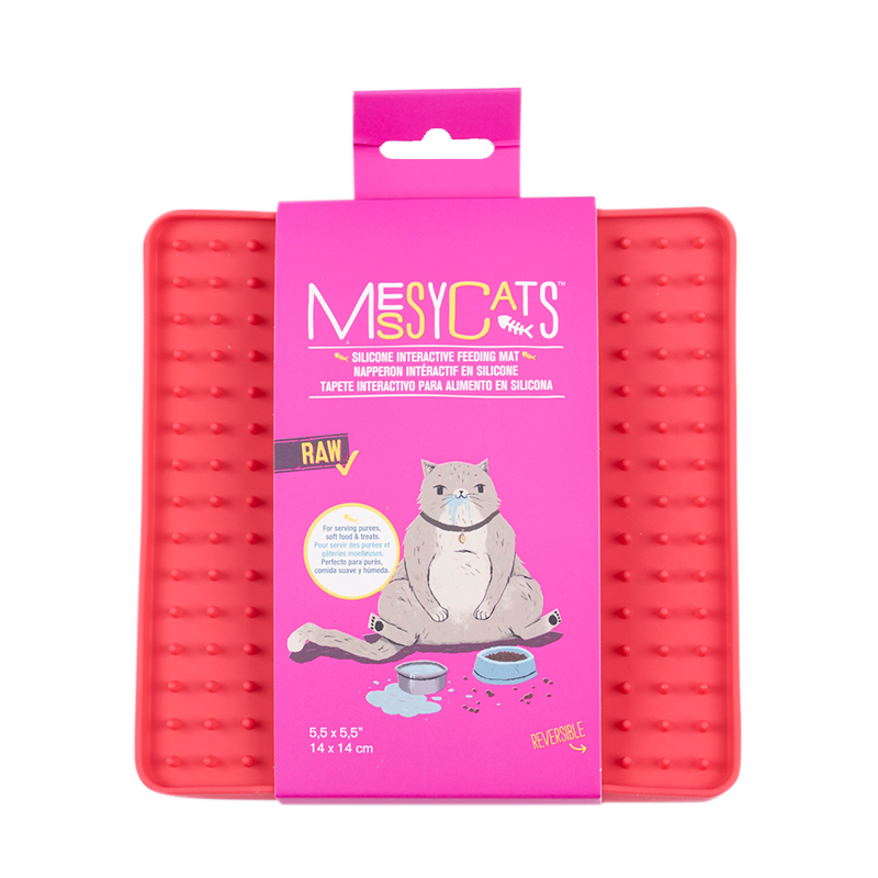 MESSY CATS Silicone Reversible Interactive Feeding Mat 5½ X 5½