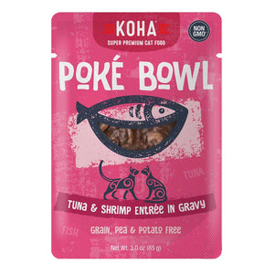 KOHA Poké Bowl Tuna & Shrimp Entree in Gravy, 85g pouch