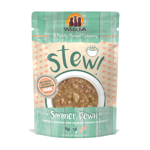 WERUVA Stews Simmer Down Turkey, Chicken & Salmon, 3oz