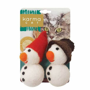 KARMA CAT Felted Wool Snowmen, 2 pk