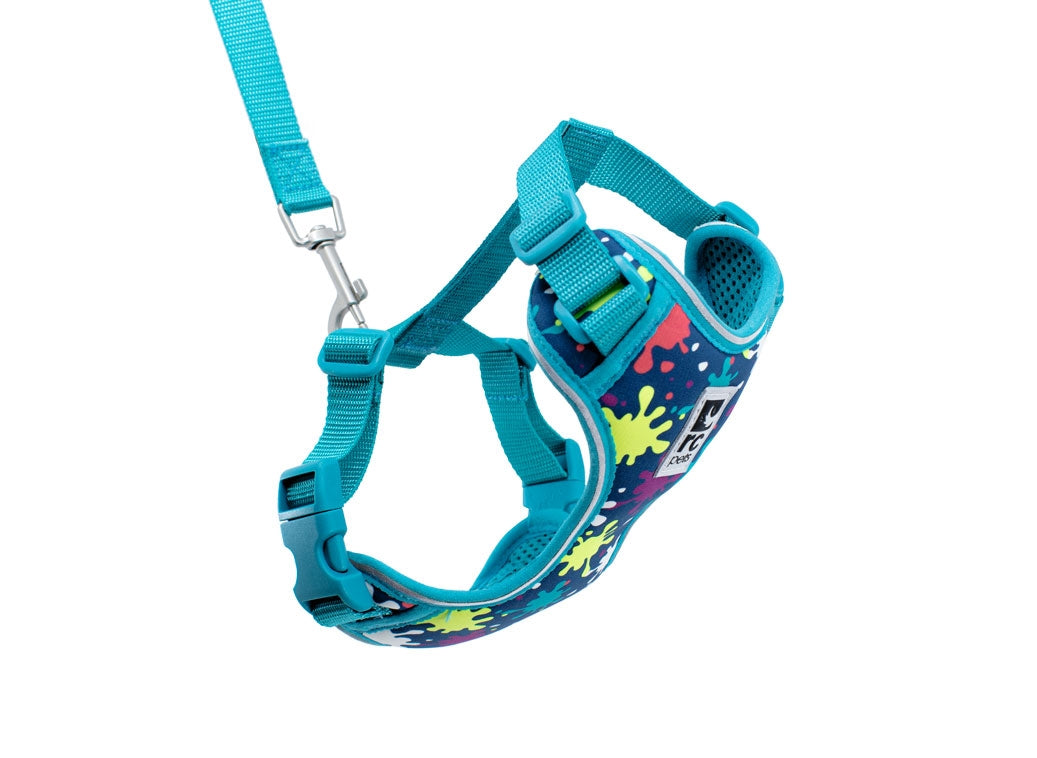 RC PETS Adventure Kitty Harness w/Leash Splatter, medium