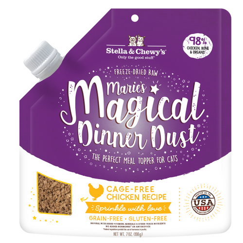 STELLA & CHEWY'S Marie's Magical Dinner Dust Freeze-Dried Raw Cage-Free Chicken Meal Topper, 198g