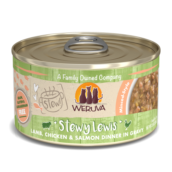 WERUVA Stews Stewy Lewis Lamb, Chicken & Salmon, 2.8oz